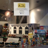 At the Bishop Museum show. The Bus MOCs in foreground.