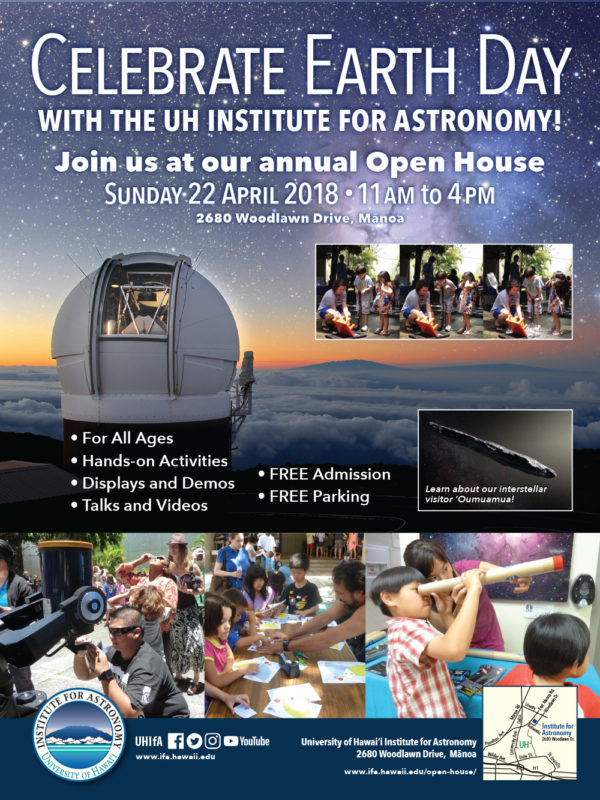 Institute for Astronomy Open House flier