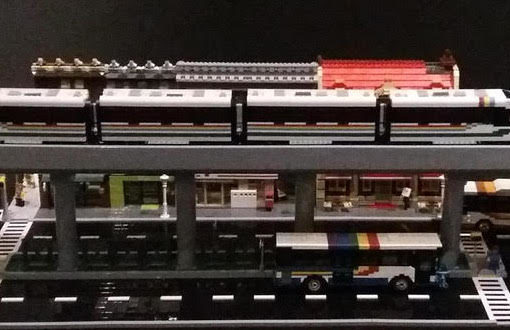 Preview of Honolulu Transit display built by HILUG for Bishop Museum Traveling Bricks exhibit